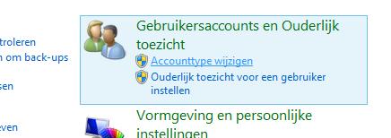 Accounttype wijzigen