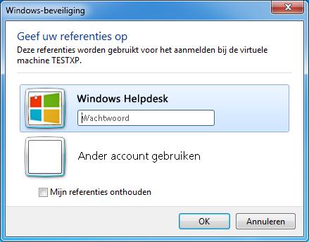 Inloggen XP modus Windows 7