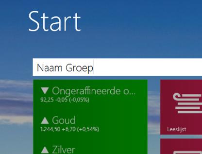 Groeps naam geven Windows 8.1