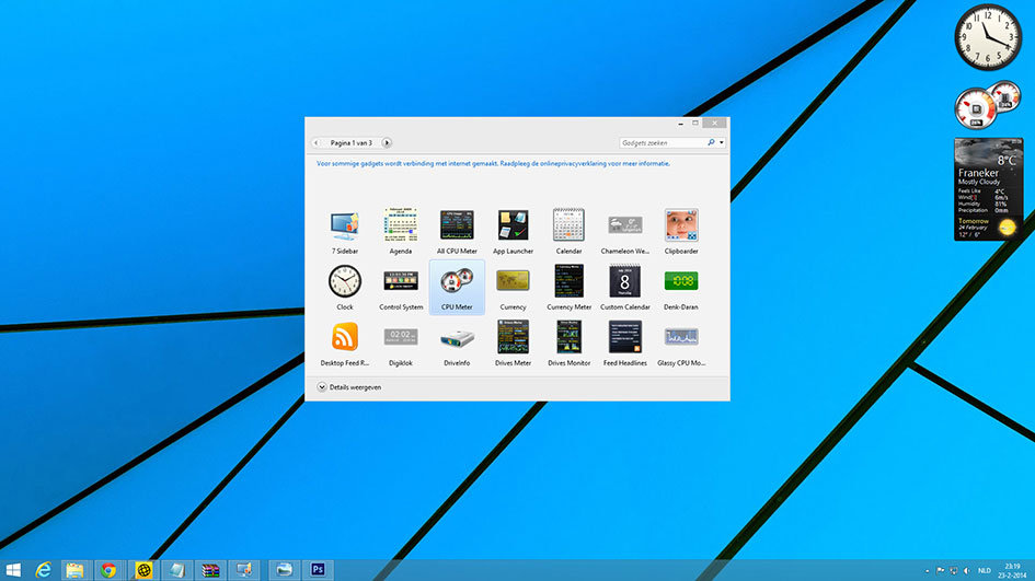 Sidebar Windows 8.1