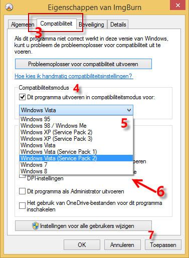 Compatibiliteitsmodus in Windows 10