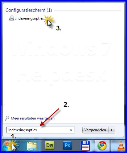 Windows opnieuw indexeren