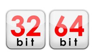 64 of 32 bits