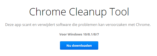 chrome clean up tool