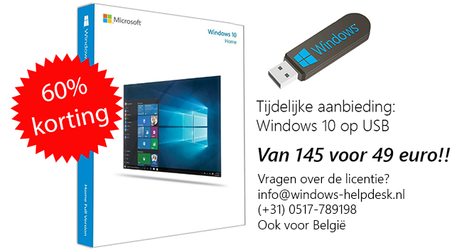 aanbieding windows 10