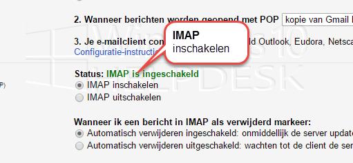 IMAP Synchronisatie via Gmail