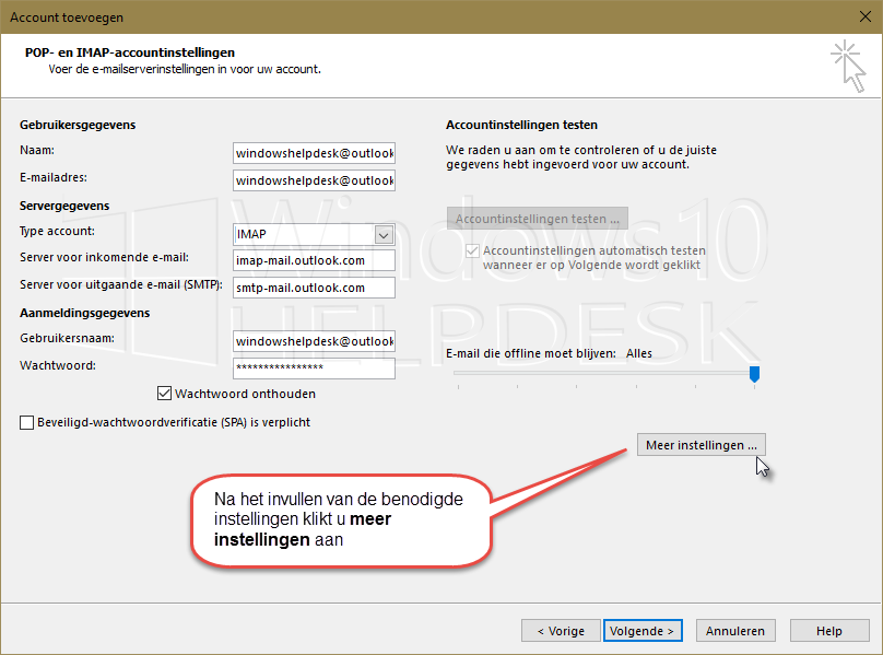 Outlookcom imap_smtp account Outlook