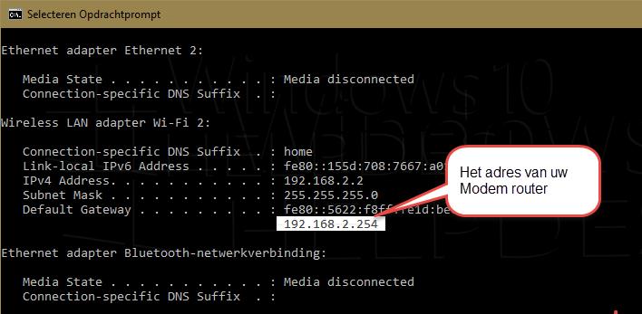adres modem router