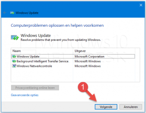 update problemen windows