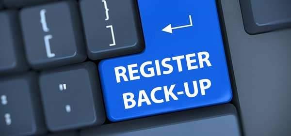 register backup maken