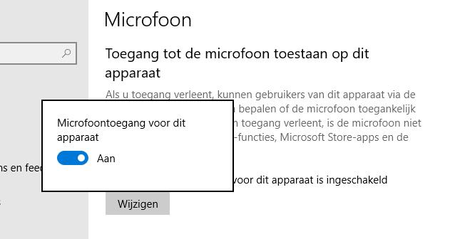 Microfoon inschakelen