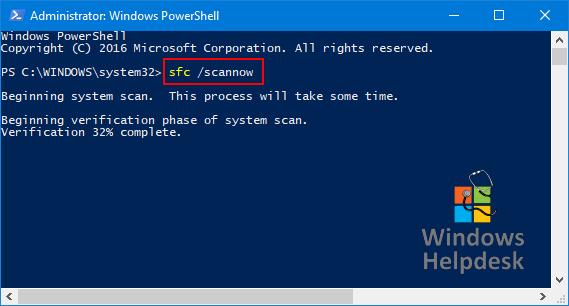 Power shell sfc /scannow