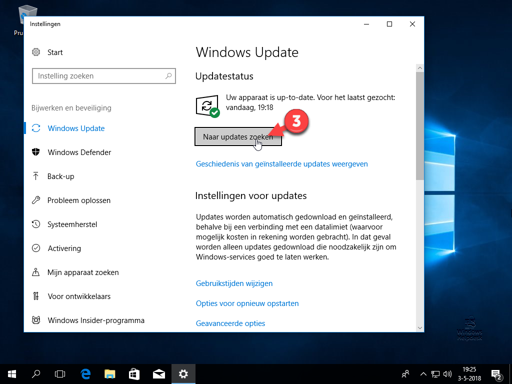 Controleren op updates