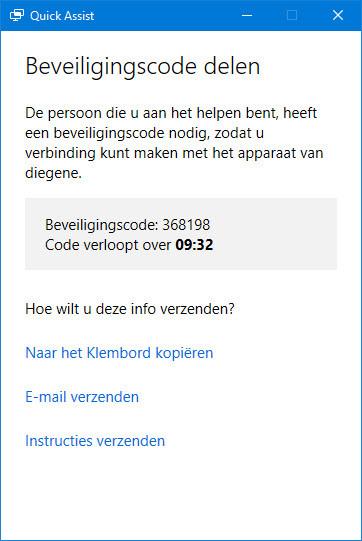 hulp op afstand Windows geven
