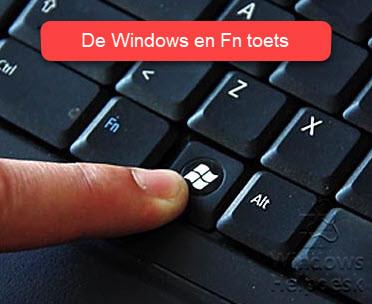 sneltoets Windows en Fn toets