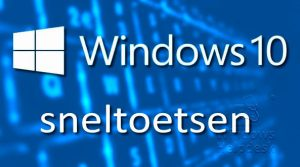 windows 10 sneltoetsen
