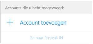 Windows 10 mail, account toevoegen