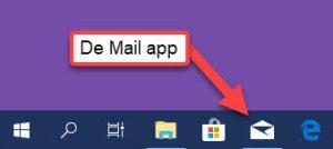 mail app taakbalk
