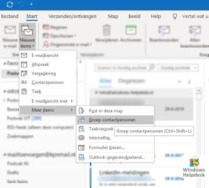 Meerdere tegelijkertijd mailen