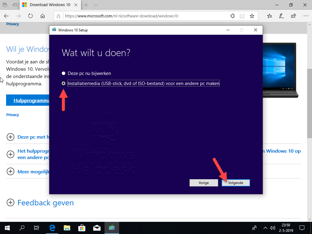 Windows 10 setup USB